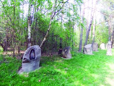 Akmenų galerija išnykusių prūsų genčių atminimui.