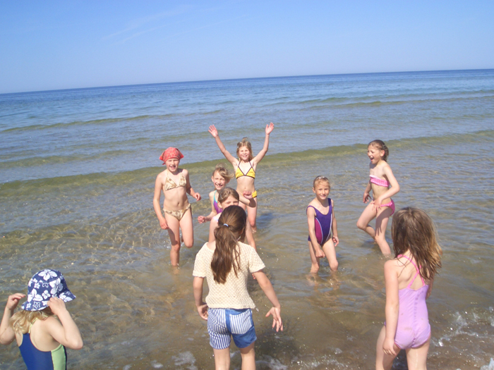 Džiaugiamės jūra.