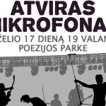 """""""Atviras mikrofonas"""" Marijampolės Poezijos parke: jaunimo muzikos koncertas"""