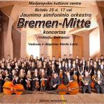"""Jaunimo simfoninio orkestro """"Bremenas-Mitte"""" iš Vokietijos viešnagė Marijampolėje"""