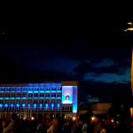 Tautišką giesmę Marijampolėje vainikuos trispalvės šviesos magija