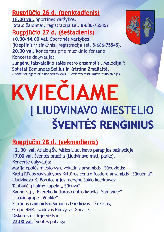 Liudvinavo miestelio šventės plakatas