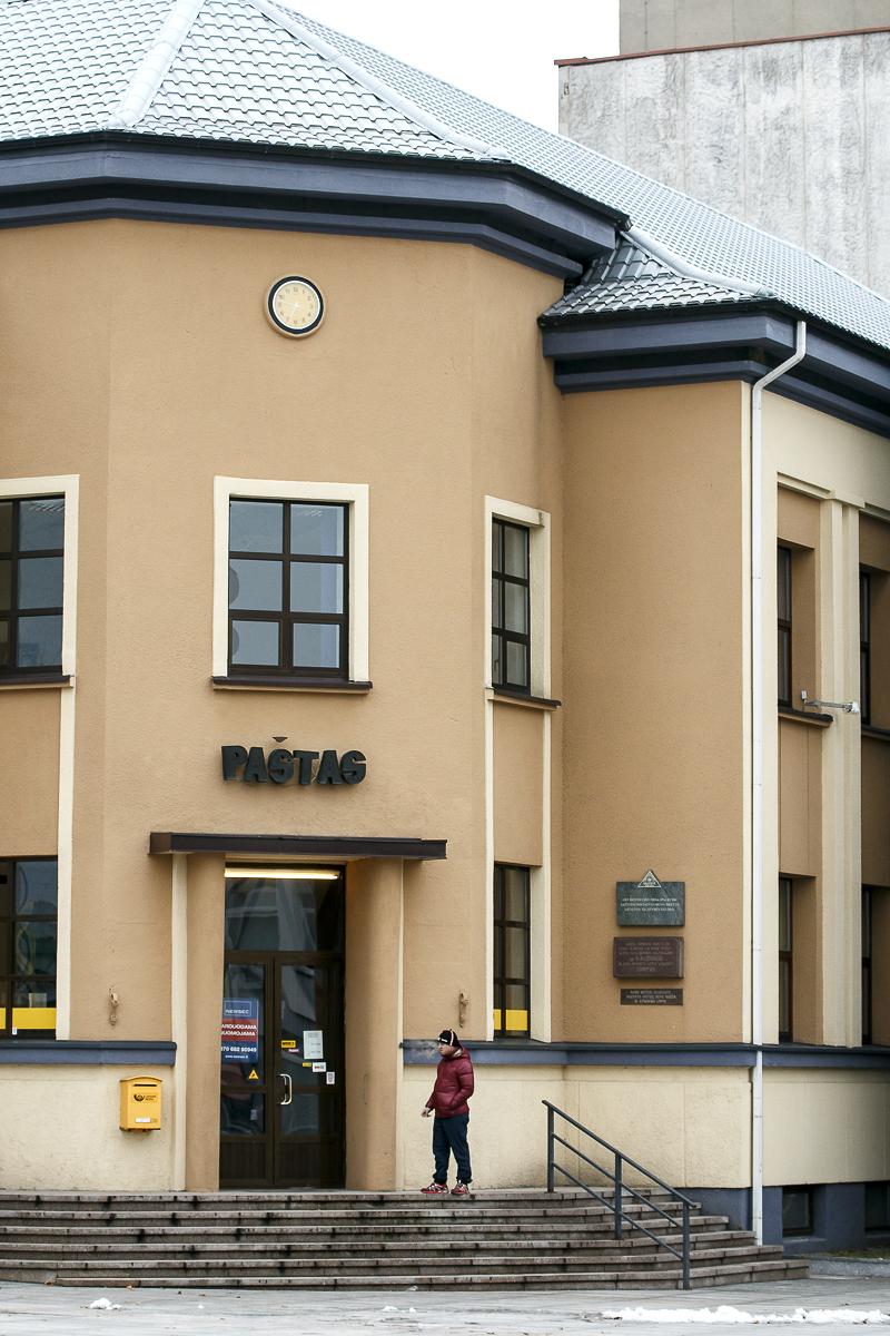 Marijampolės centrinis paštas (J. Basanavičiaus a., Marijampolė).