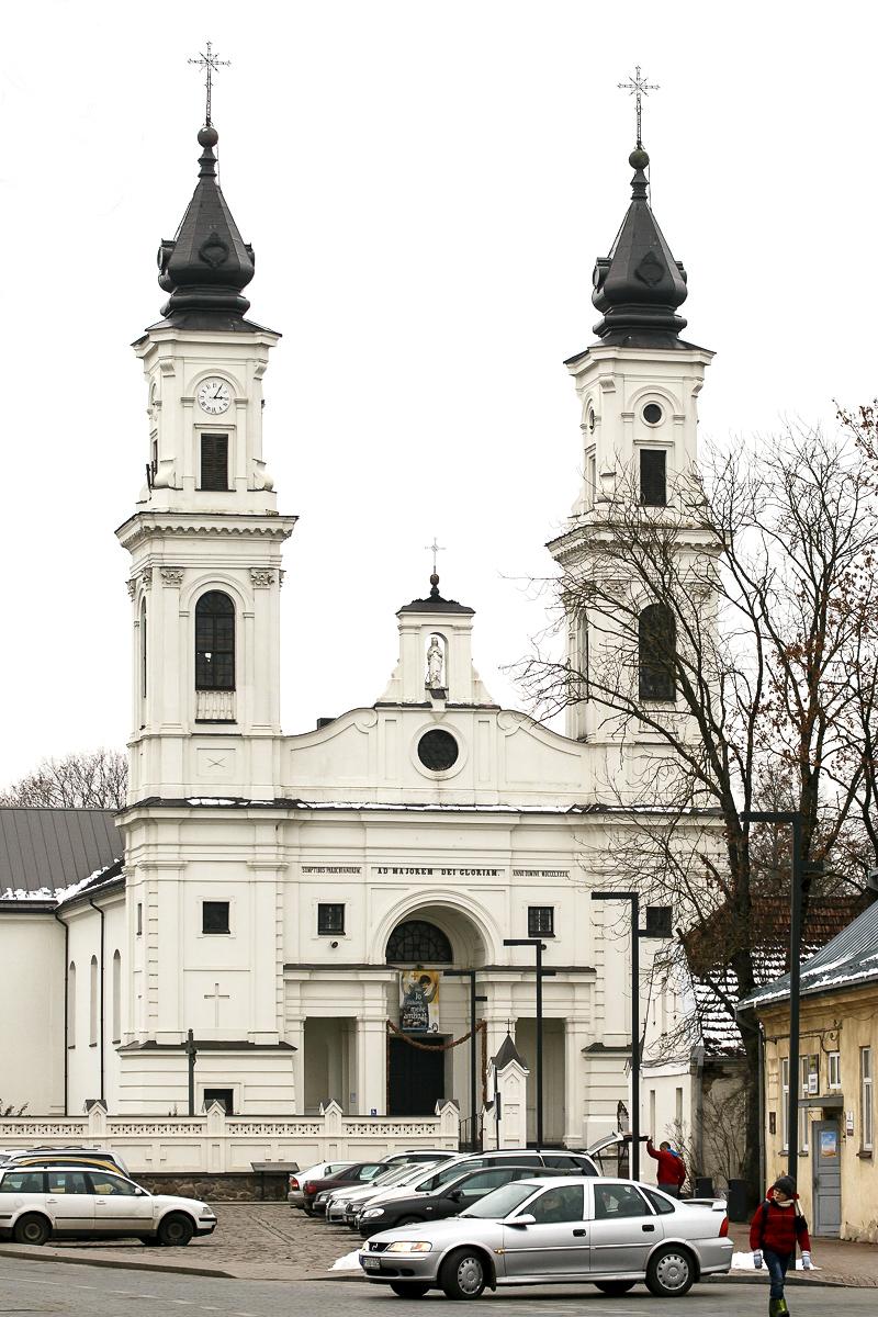 """Marijampolės """"baltukė"""" bažnyčia (Marijampolės Šv. Arkangelo Mykolo bažnyčia)."""