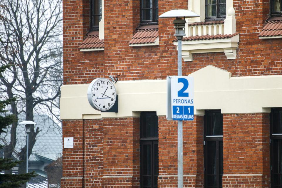 Geležinkelio stoties laikrodis.