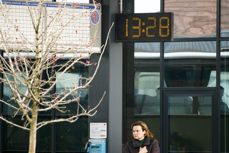 Marijampolės autobusų stoties laikrodis.