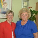 Laikinąją merę aplankė Marijampolės garbės pilietė iš Austrijos