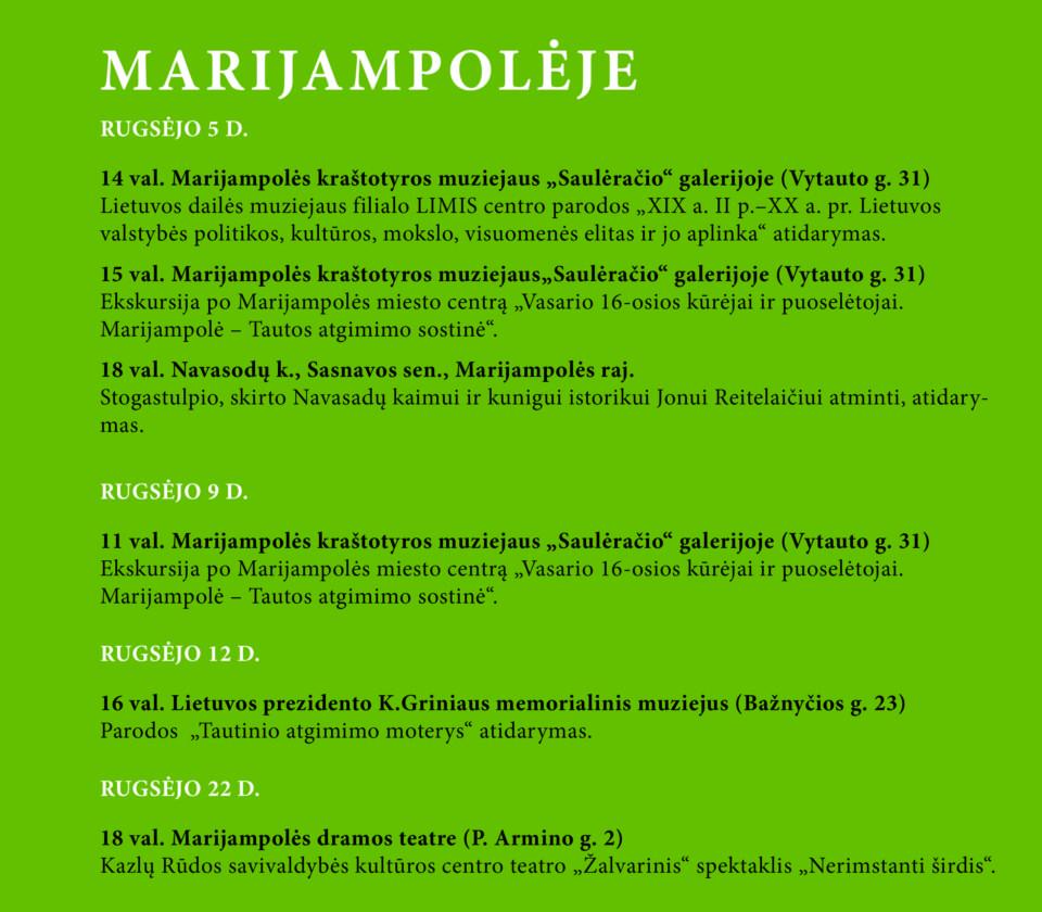 Vasario 16-osios kūrėjai ir puoselėtojai @ Marijampolės savivaldybė