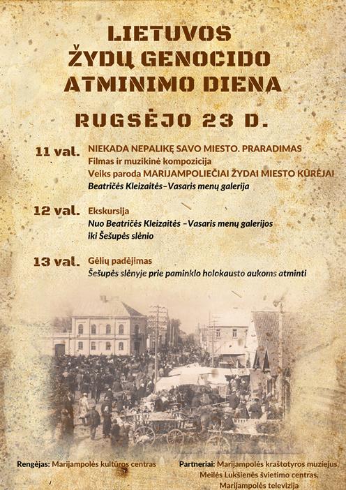 Lietuvos žydų genocido atminimo diena @ Marijampolėje