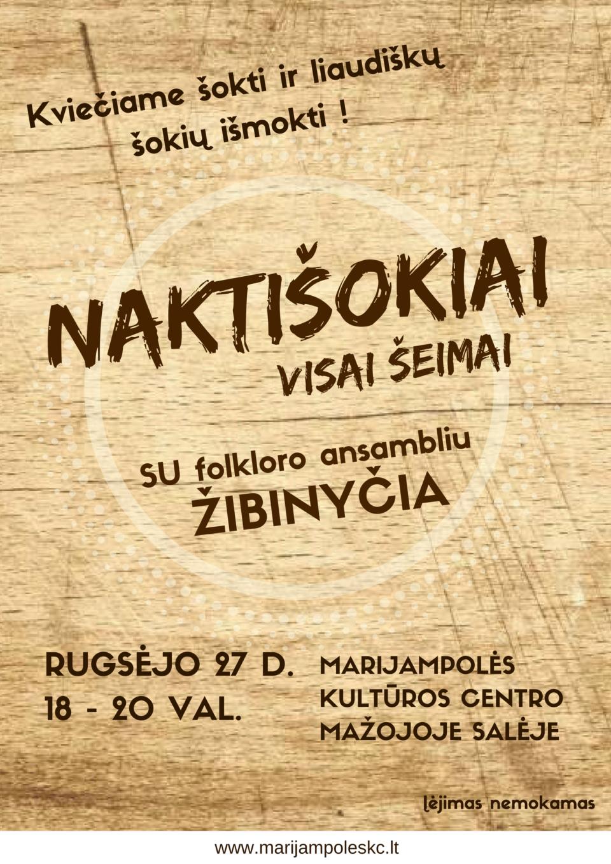 NAKTIŠOKIAI @ Marijampolės kultūros centro mažojoje salėje