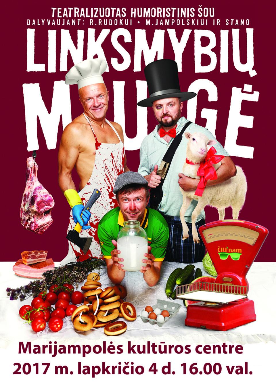 """Humoristinis muzikinis šou """"Linksmybių mugė"""" @ Marijampolės kultūros centras"""