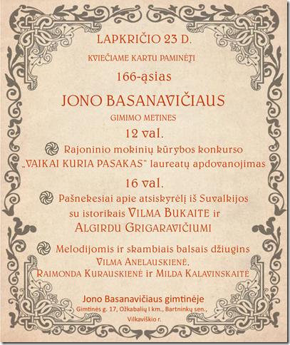 166-osios Jono Basanavičiaus gimimo metinės @ Jono Basanavičiaus gimtinė, Ožkabalių km.