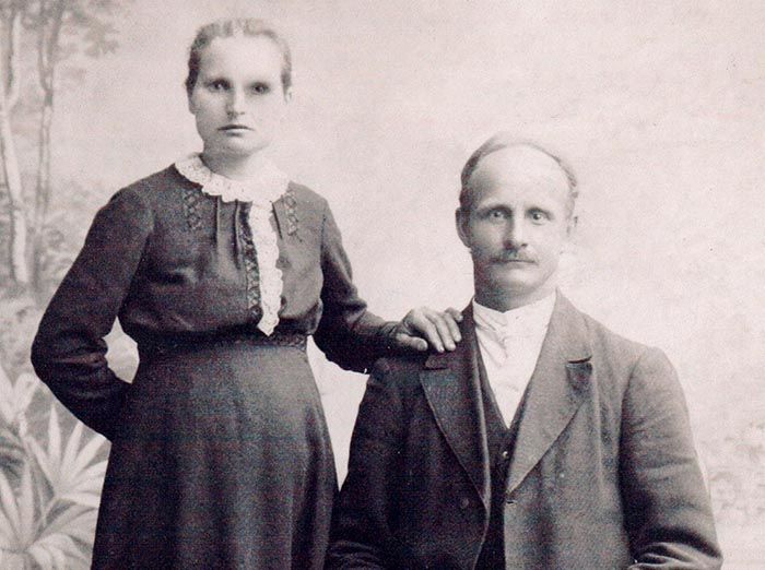 Lietuvos prezidento Kazio Griniaus sesuo Ona Griniūtė Bacevičienė ir Feliksas Bacevičius.