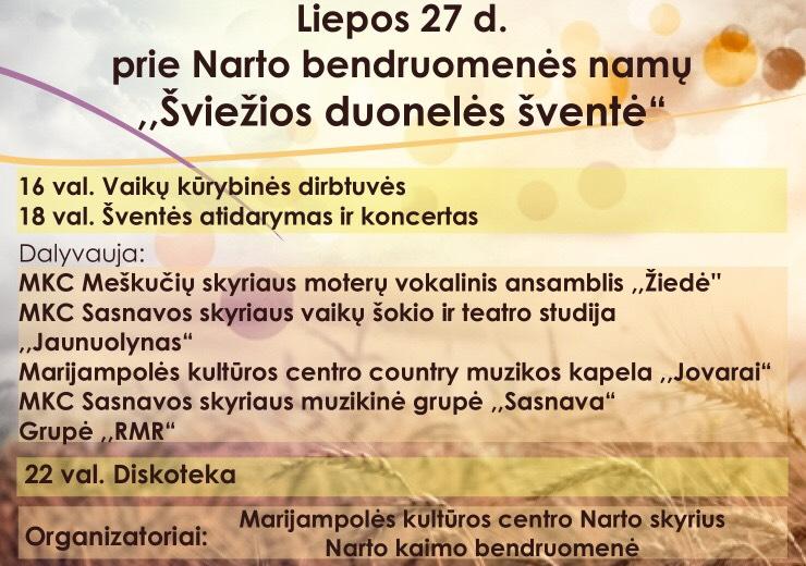 Bendruomenės šventė @ Narto kaimas, Marijampolės sav.