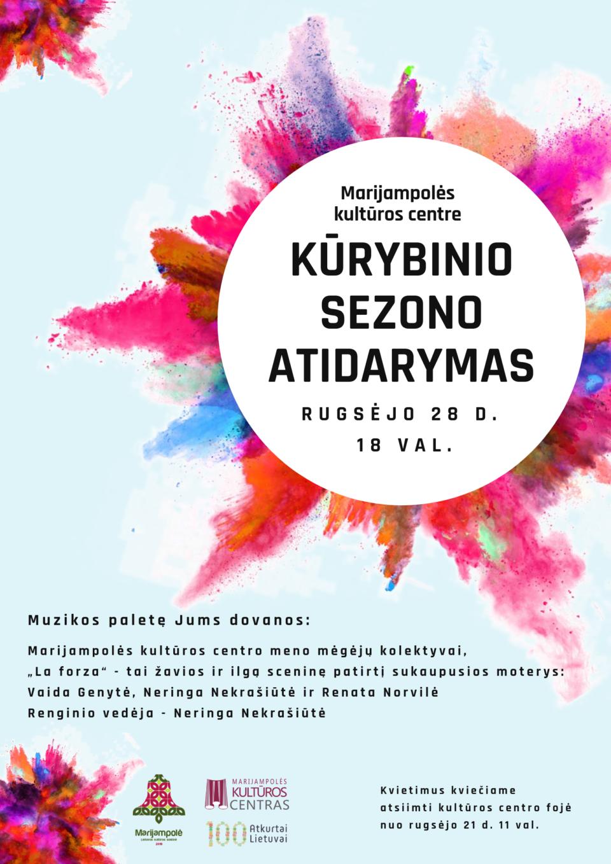 KŪRYBINIO SEZONO ATIDARYMAS @ Marijampolės kultūros centras