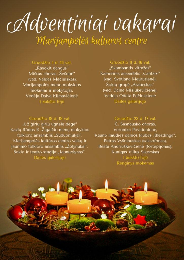 Adventiniai vakarai @ Marijampolės kultūros centras