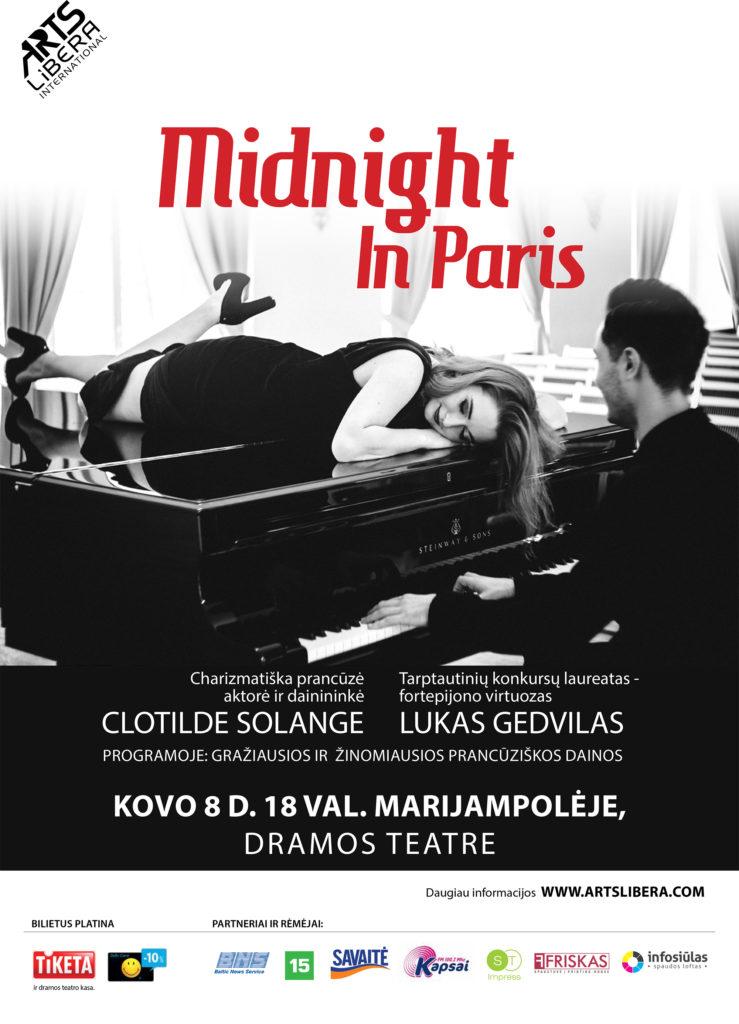 """Koncertas """"Midnight in Paris"""" @ Marijampolės dramos teatras"""