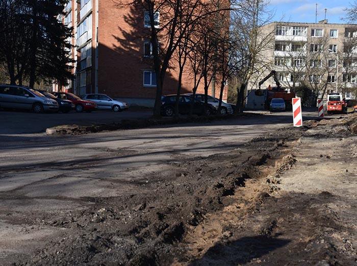 Pradėti rekonstravimo darbai Marijampolėje, R. Juknevičiaus gatvėje
