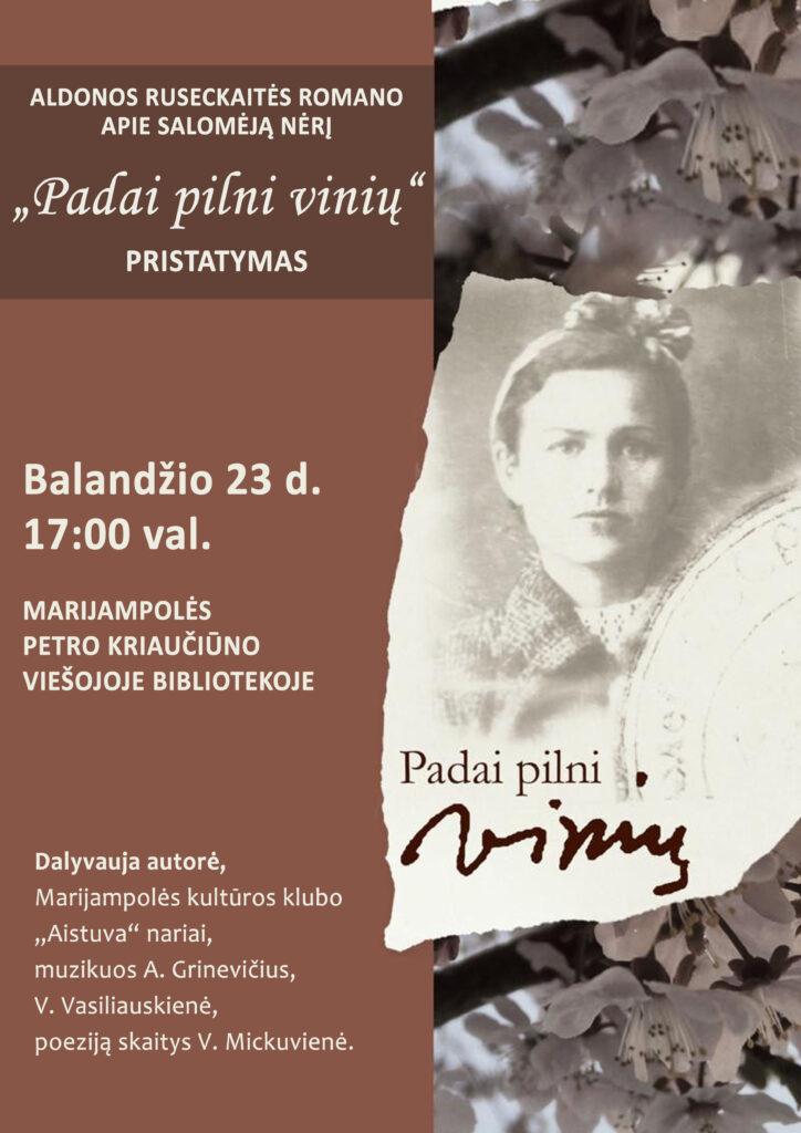 Knygos pristatymas @ Marijampolės P. Kriaučiūno viešoji biblioteka
