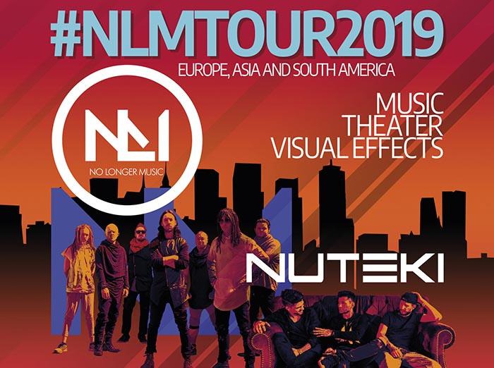 """Tarptautinė roko spektaklio grupė """"No Longer Music"""" ir grupė NUTEKI gegužės 21 d. atvyksta į MARIJAMPOLĘ!"""