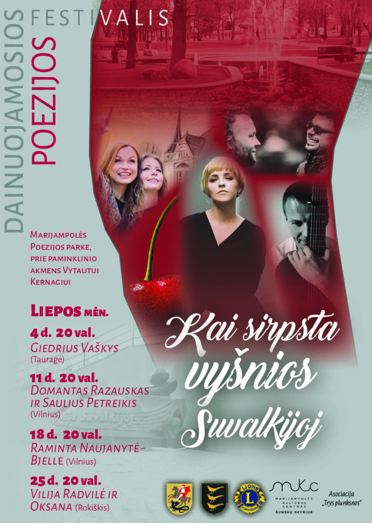Dainuojamosios poezijos festivalis @ Marijampolė