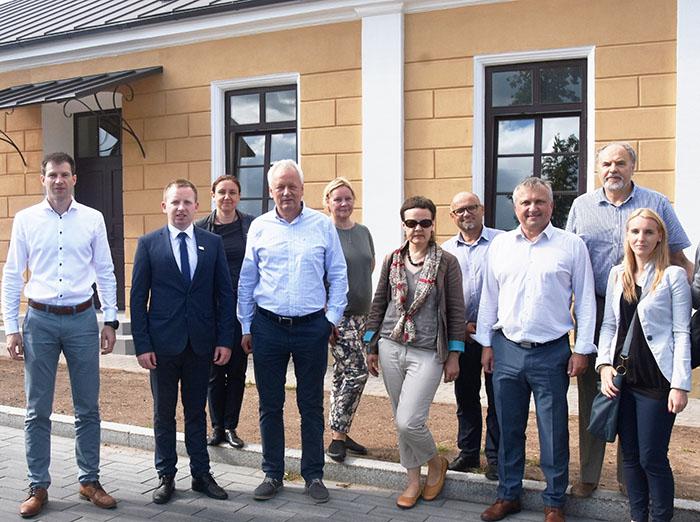 Kultūros paveldo departamento direktoriaus Vidmanto Bezaro vizitas Marijampolėje