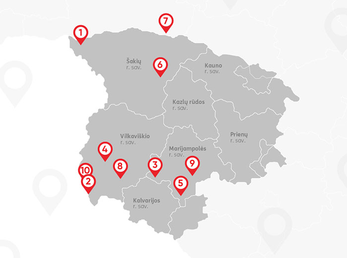 TOP10 antistresinių vietų Suvalkijoje: atsipalaiduoti dažniausiai vykstama į Vilkaviškio rajoną