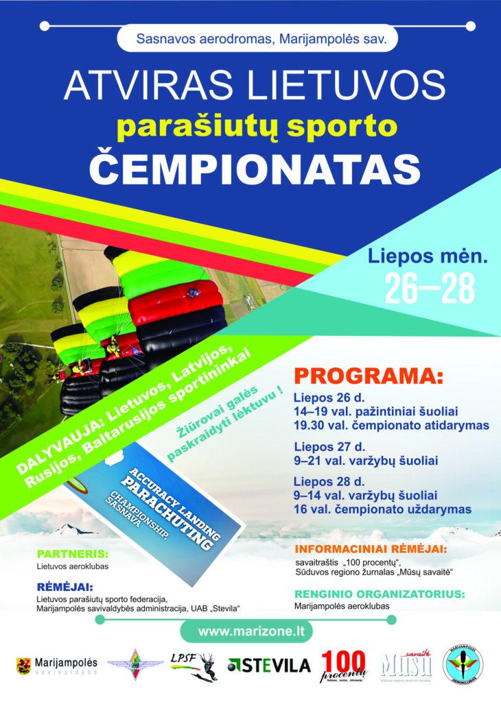 Atviras Lietuvos parašiutų sporto čempionatas @ Sasnavos aerodromas (Marijampolės sav.)