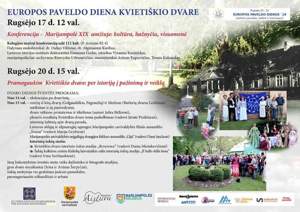 Europos paveldo diena Kvietiškio dvare @ Marijampolė