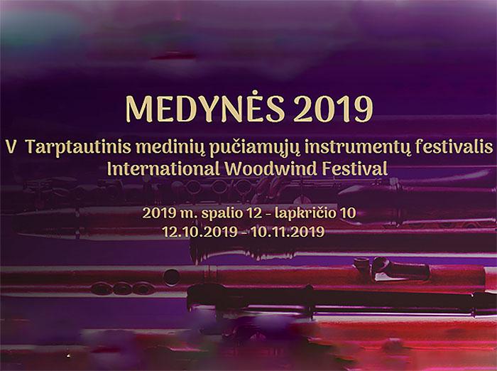 Muzikos erdvėlaikiai – medinių pučiamųjų instrumentų festivalyje MEDYNĖS 2019!