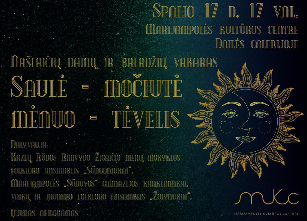Našlaičių dainų ir baladžių vakaras @ Marijampolės kultūros centras