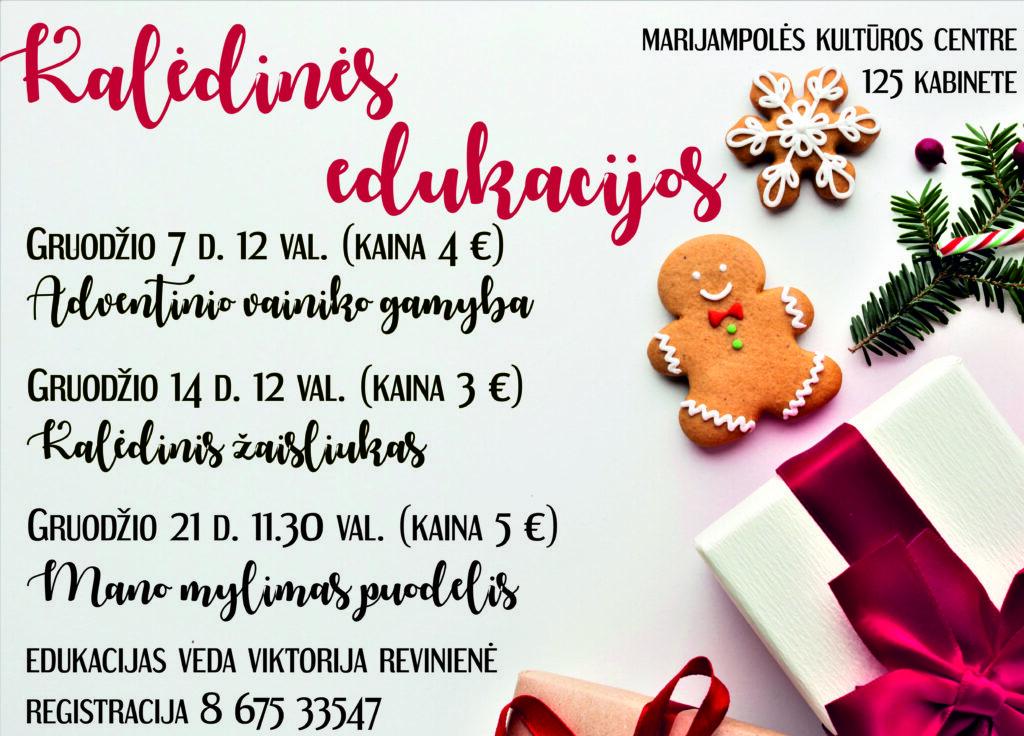 Kalėdinės edukacijos @ Marijampolės kultūros centras