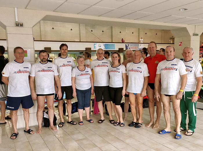 """Klubo """"Torpedos"""" pergalės plaukimo veteranų čempionate"""