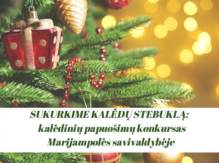 Sukurkime Kalėdų stebuklą: skelbiamas kalėdinių papuošimų konkursas!