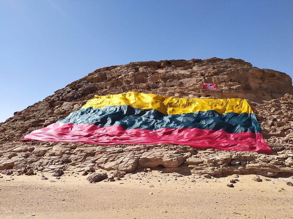 Įspūdingo dydžio trispalvė iš Dakaro ralio atkeliaus ir į Marijampolę