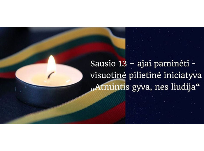 Kviečiame kartu paminėti Sausio 13-ąją – Laisvės gynėjų dieną
