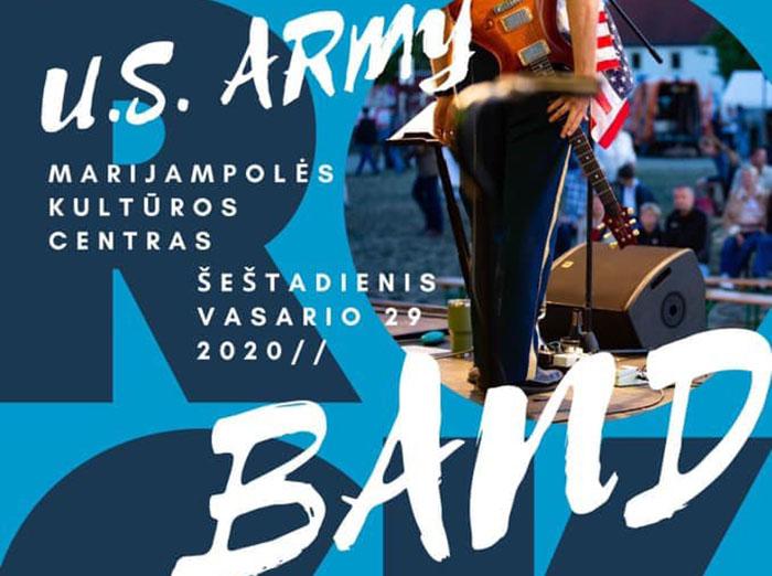 JAV sausumos pajėgų Europoje roko muzikos kolektyvas surengs koncertus Pabradėje ir Marijampolėje