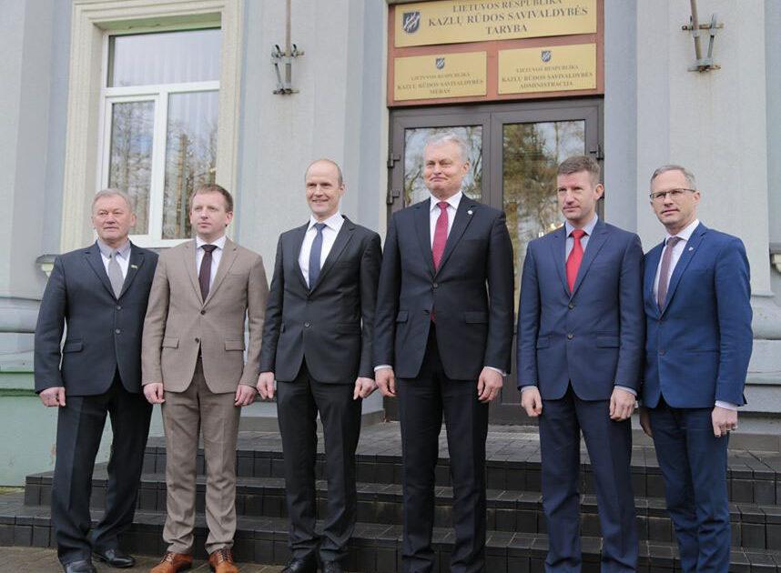 Marijampolės savivaldybės meras Povilas Isoda susitiko su Lietuvos Respublikos Prezidentu Gitanu Nausėda