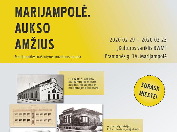 """Kviečiame dalyvauti parodos """"Marijampolė.  Aukso amžius"""" pristatyme"""