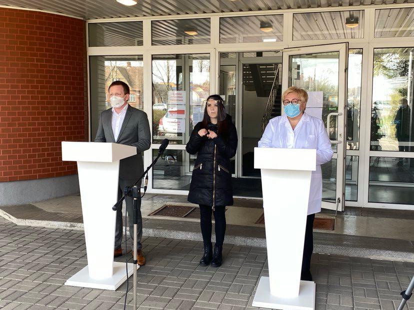 Situacija Marijampolės ligoninėje labai rimta, tačiau valdoma