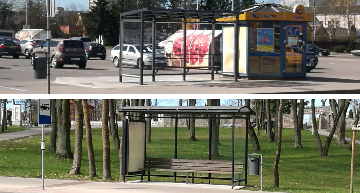 Marijampolės mieste – du nauji viešojo transporto laukimo paviljonai