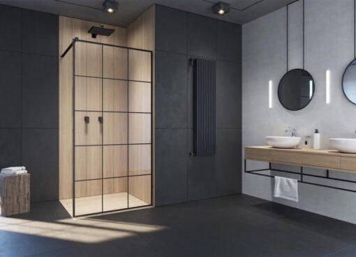 Juoda spalva vonios kambaryje: kaip ją pritaikyti?