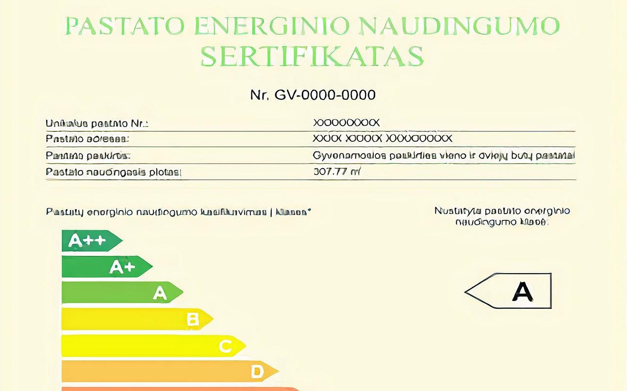 Energinio naudingumo sertifikatai naudingi bet kokios paskirties statiniams
