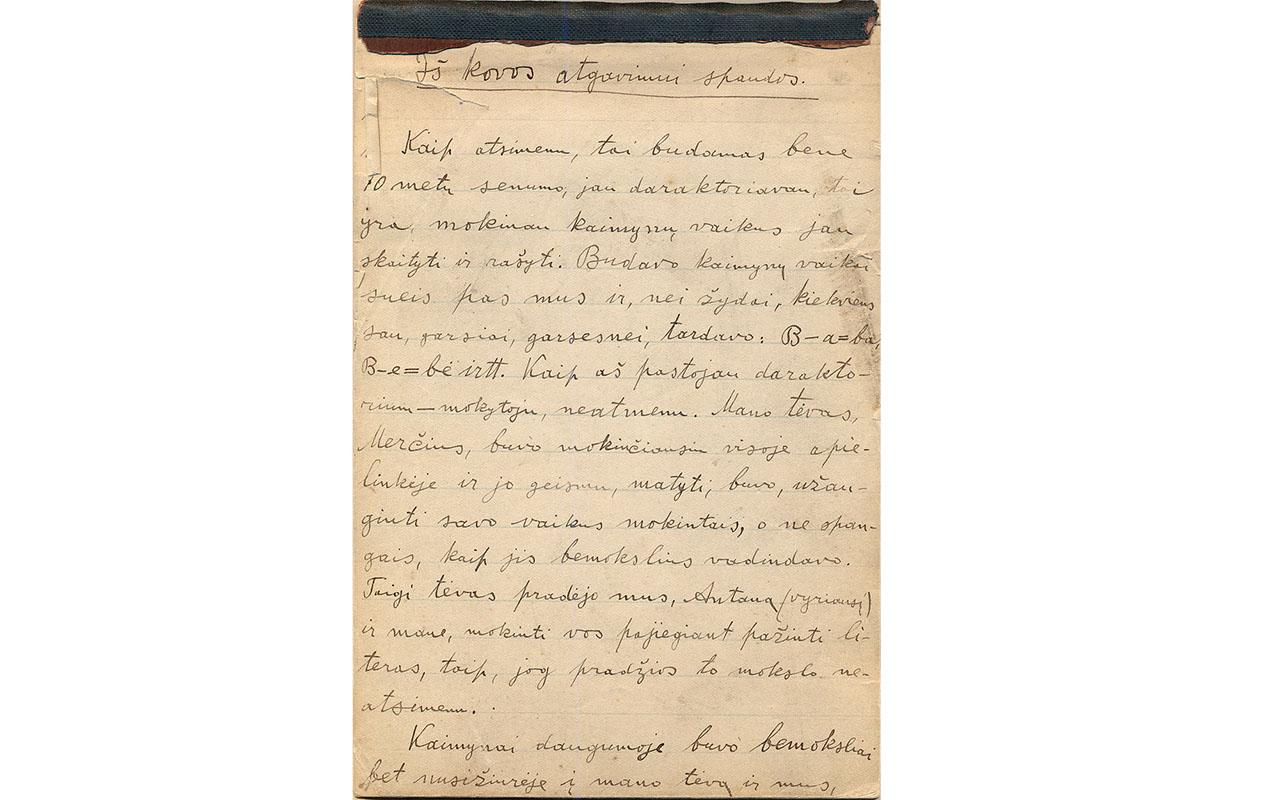 Istorija kitaip: Vinco pasikalbėjimai su Jonu apie  didįjį Suvalkijos knygnešį Petrą Mikolainį