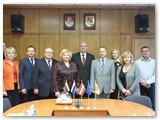 Su Marijampolės savivaldybės vadovais po susitikimo.