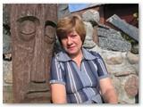 Danutė Lisauskienė - unikalaus savo vyro palikimo sergėtoja. Autorės nuotrauka.