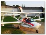 Pilotuojant lėktuvą.