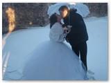 Vestuvių akimirka.