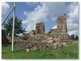 Krėvos pilies griuvėsiai.