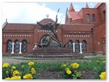 Minskas. Nepriklausomybės aikštėje.
